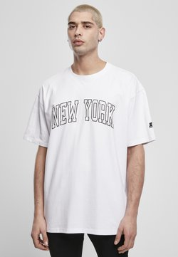 Starter - NEW YORK TEE - T-shirt print - white