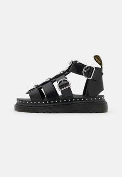 Dr. Martens - MACKAYE - Korkeakorkoiset sandaalit - black buttero