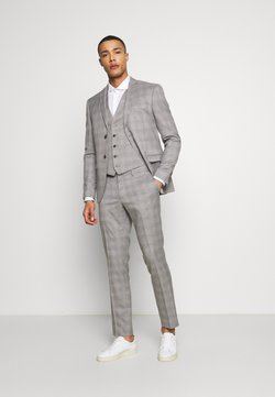 Isaac Dewhirst - CHECK 3 PIECES SUIT - Anzug - grey