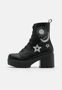 Koi Footwear - VEGAN  - Plateaustøvletter - black/silver