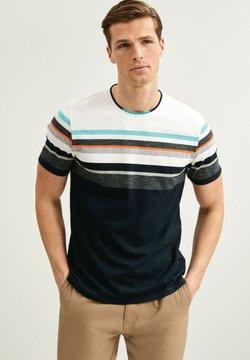 Next - BLOCKING  - T-Shirt print - dark blue