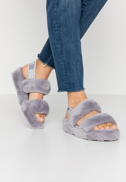 UGG - OH YEAH - Pantolette hoch - grey
