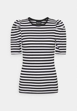 Pieces - PCANNA - T-Shirt print - brigth white/black