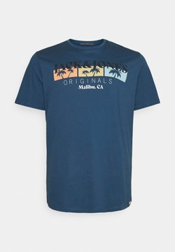 Jack & Jones - JORCABANA TEE CREW NECK - T-Shirt print - ensign blue