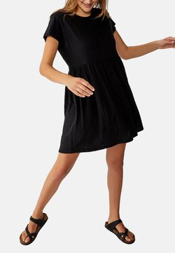 Cotton On Curve - TINA BABYDOLL  - Jerseykleid - black