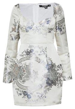 Missguided Petite - FLORAL MINI DRESS - Vestido de tubo - grey