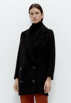 Uterqüe - Krótki płaszcz - black