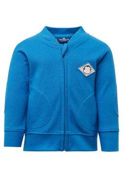 TOM TAILOR - MIT PATCH - veste en sweat zippée - blue