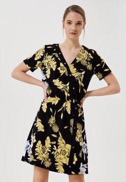 Liu Jo Jeans - Vestido camisero - black/yellow