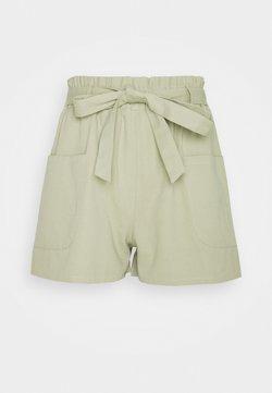 Missguided Petite - TIE WAIST  - Shorts - khaki