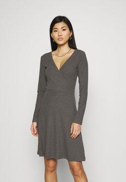 Anna Field - Strikket kjole - mottled dark grey