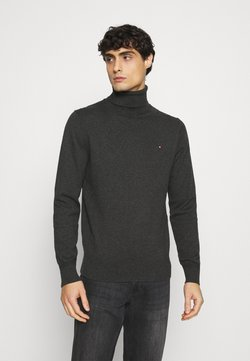 Tommy Hilfiger - PIMA ROLL NECK - Pullover - charcoal heather