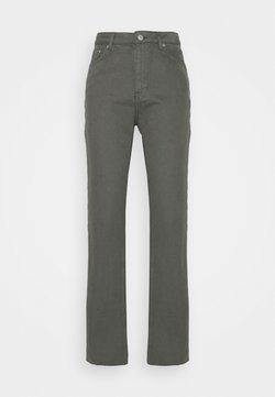 NA-KD Tall - HIGH WAIST RAW HEM - Jeans baggy - dark grey