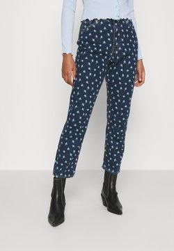 Monki - MINI FLOWER - Jeans Straight Leg - blue