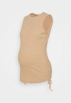 Glamorous Bloom - TANK TOP WITH ROUND NECKLINE - T-shirt con stampa - beige/white