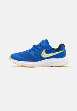 Nike Performance - STAR RUNNER 2 UNISEX - Hardloopschoenen neutraal - game royal/metallic silver/black/speed yellow