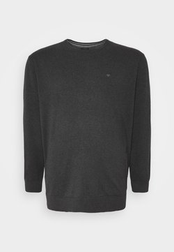TOM TAILOR MEN PLUS - Pullover - black grey melange