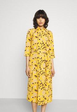 ONLY - ONLNOVA LUX  SHIRT DRESS - Blusenkleid - golden yellow/white