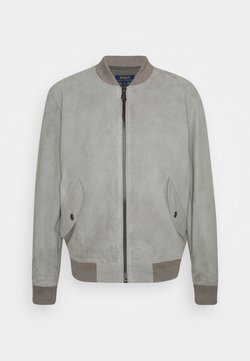 Polo Ralph Lauren - TISSUE GUNNERS  - Leather jacket - athletic grey