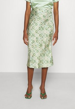 Never Fully Dressed - MARBLE PRINT SLIP SKIRT - Falda de tubo - green