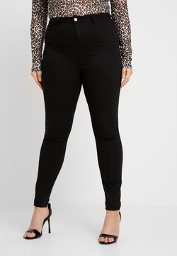 Missguided Plus - LAWLESS HIGHWAISTED SUPERSOFT - Vaqueros pitillo - black