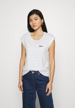 Esprit - TEE - T-Shirt print - pastel blue