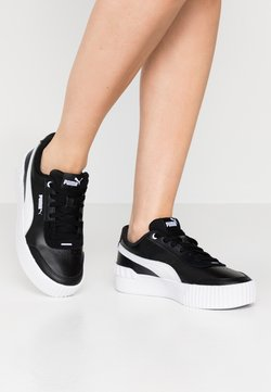 Puma - CARINA LIFT - Matalavartiset tennarit - black/white
