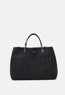 Emporio Armani - MYEABORSA SHOPPING SET - Handbag - black/ecru