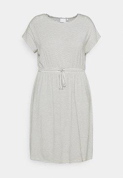 Mamalicious Curve - MLALISON DRESS - Jerseykleid - snow white/black