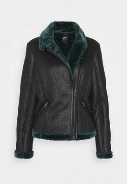 Gipsy - BRIGID  - Imitatieleren jas - black/green
