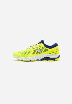Mizuno - WAVE ULTIMA 11 - Zapatillas de running neutras - yellow/white/bluedepths