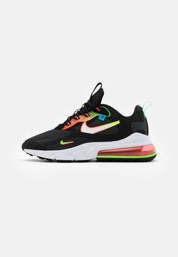 Nike Sportswear - AIR MAX 270 REACT UNISEX - Sneaker low - black/white/green strike/flash crimson/blue fury
