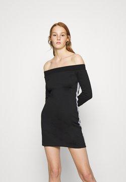 Calvin Klein Jeans - OFF THE SHOULDER MILANO DRESS - Kotelomekko - black