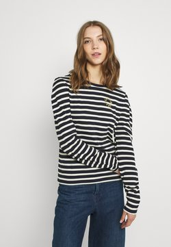 Scotch & Soda - TEE WITH ROUNDED SPECIAL SLEEVES - Langarmshirt - combo