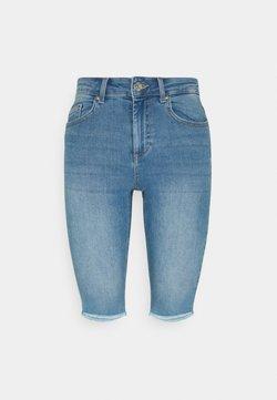 ONLY - ONLBLUSH WAIST LONG - Shorts di jeans - medium blue denim