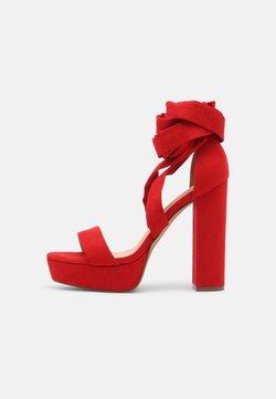Even&Odd - Korkeakorkoiset sandaalit - red