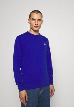 PS Paul Smith - CREW NECK ZEBRA - Strickpullover - blue