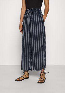 Hollister Co. - WIDE LEG  - Stoffhose - navy