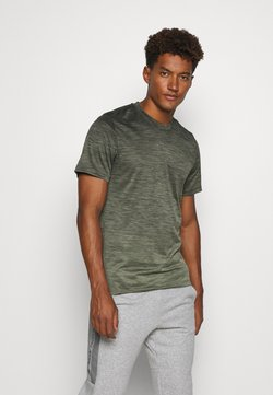 adidas Performance - GRADIENT TEE - Basic T-shirt - legend earth mel