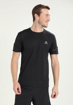Salomon - AGILE TEE - T-Shirt basic - black