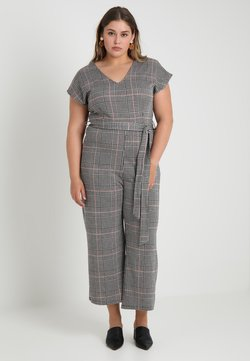 New Look Curves - FRANK CHECK SELF BELTED - Haalari - black