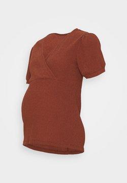 MAMALICIOUS - MLPAULA - Camiseta estampada - burnt russet