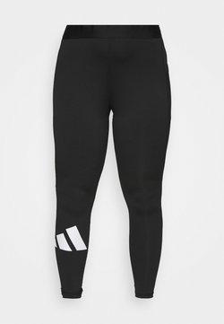adidas Performance - ADILIFE  - Legginsy - black/white