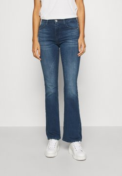 ONLY - ONYHUSH LIFE MID FLARED   - Slim fit jeans - dark blue denim