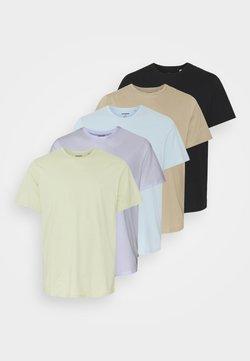 Jack & Jones - JJEORGANIC BASIC TEE O NECK 5 PACK - T-shirt basique - celadon green