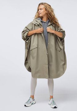 OYSHO - WATER-REPELLENT CAPE-STYLE - Trench - khaki