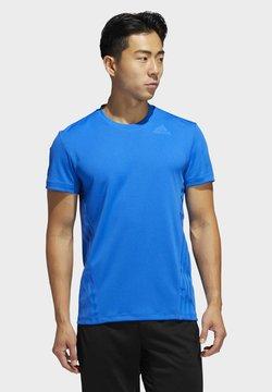 adidas Performance - AEROREADY 3-STRIPES T-SHIRT - T-Shirt print - blue