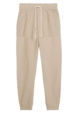 TOM TAILOR DENIM - RELAXED TRACKPANTS - Jogginghose - beige/white
