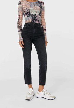 Stradivarius - Jean slim - black
