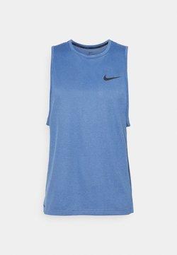 Nike Performance - TANK DRY - Funktionströja - mystic navy/stone blue/heather/black